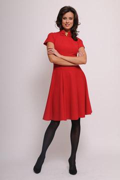 Строгие красные вечерние платья